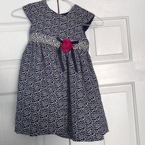 Girls Pippa & Julie Size 4 Blue Sleeveless Dress